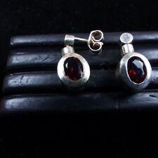 Ohrhänger,Granat/Pyrop, facettiert , Silber 925
