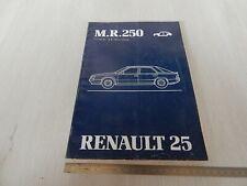 MANUALE RIPARAZIONE ORIGINALE CARROZZERIA 1983 RENAULT 25 LINGUA ITALIANO