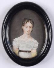 """Portrait of a young woman"", Austrian miniature, ca. 1820"