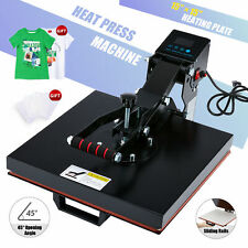15x15 Inch Clamshell Heat Press Machine 1000w T Shirt Press For Mouse Pads More