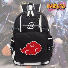 Anime Naruto Akatsuki Red Cloud Backpack School Shoulder Bag Rucksack Cosplay