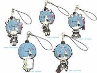 Re: Zero Anime Mascot Rubber PVC Strap Keychain Charm ~ Rem Set of Five @71094