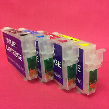 4 Refillable Empty Ink Cartridges To Replace Epson T0711 T0712 T0713 T0714 T0715