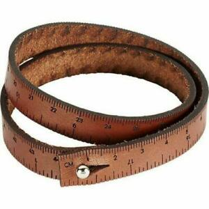 Ilovehandles Leather Wrist Ruler (medium) For crafters, sewing, knitting & DIY