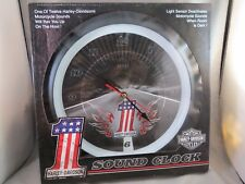 NEW HARLEY DAVIDSON SOUND WALL CLOCK #1 open road softail bagger sportster king