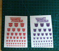Transparent Clear Transformers G1 Autobots(Symbol)&Decepticons Stickers Decal