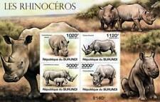 Rhinoceros (African White & Black Rhino) Stamp Sheet #1 of 5 (2011 Burundi)