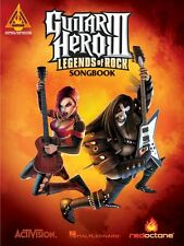 Guitar Hero III Legends of Rock Sheet Music Guitar Tablature Book NEW 000690950