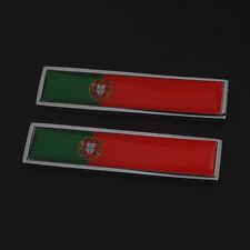 Car Truck Chrome Portugal Flag Badge Emblem Trim Decal Sticker Resin+Metal 3D