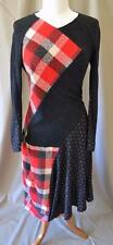 Junya Watanabe Comme des Garcons Black/Red Patchwork Dress Size M