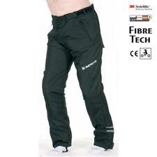 Pantaloni neri impermeabili per motociclista