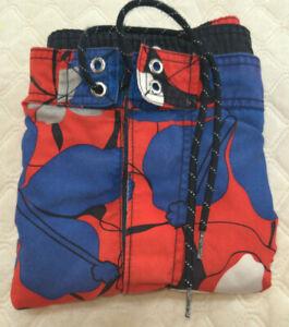 Mens NAUTICA Red Floral Hibiscus Shorts Swim Trunks Board Shorts XL Drawstring