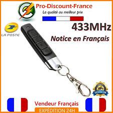 Télécommande Universelle 433 MHz Portail Garage Alarme 433mhz 4 Boutons Copieuse