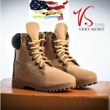 VStoys 1/6 scale men classic yellow work boots for phicen hot toys ganghood❶USA❶