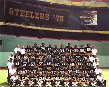 1978 PITTSBURGH STEELERS SUPER BOWL CHAMPIONS 8X10 TEAM PHOTO