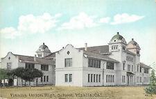 Vintage Postcard Visalia Union High School Tulare County CA