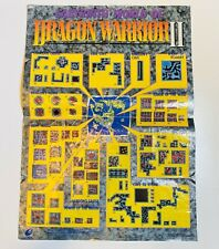 NES Nintendo Labyrinth World of Dragon Warrior II 2 Map Poster Insert Only