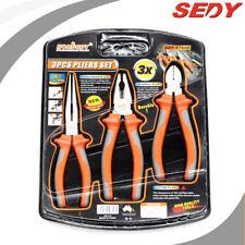 """3 PC 8"""" 200mm Needle Nose Pliers Universal Pliers Cutting Pliers Plier set 97608"""