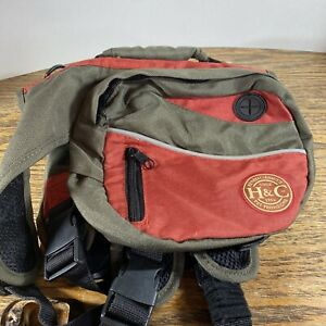 Henry Clemmies DOG TRAVEL PACK BACKPACK HIKING CARRIER KNAPSACK ANIMAl Small Red