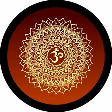 Yoga Mandala Om Flower (orange) Jeep Wrangler Rubicon Liberty Spare Tire Cover