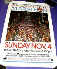 Vintage Original New York City Marathon Poster, Nov. 4, 1990, 20 in. x 30 in.