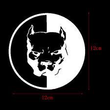 1pc White Pitbull Super Hero Dog PET Reflective Car Body Window Laptop Stickers