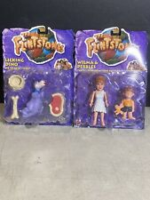 Wilma & Pebbles/Licking Dino Figures From The Flinstones Movie-Vintage 1993(Lot)