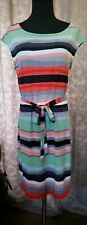 Banana Republic Red Green Black Smart Dress Size Small Striped Business Casual