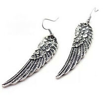 Vintage Angel Wings Tibet Silver Drop Dangle Earrings Fashion Jewelry HS8 WOMEN