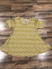 Lularoe Yellow Mustard Large Perfect T Shirt Euc