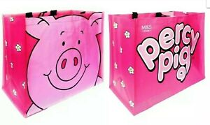 M&S Percy Pig Shopping Bag Anti-Bacterial Large Tote Shopper