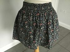 Jack Wills Ladies Navy Floral  Short Skirt Size 8. Great Condition.