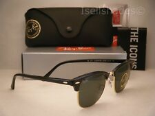 Ray Ban CLUBMASTER (RB3016-901 58 51) Black with Crystal Green Polarized 74d7d4f61f