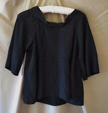 Marni Black Short Sleeve Blouse with Low Back Size Small
