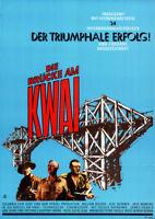 Die Brücke am Kwai ORIGINAL A1 Kinoplakat William Holden / Alec Guinness