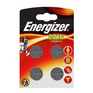 4 x Energizer CR2016 3V Lithium Coin Cell Battery 2016