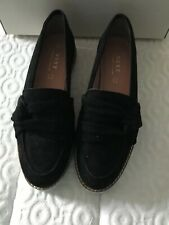 Next Black Suede Loafter Style Slip On Boat Shoes Size 5