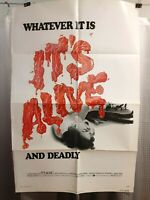 folded poster Larry Cohen's IT's ALIVE 1974 USA1sht John P. Ryan Sharon Farrell