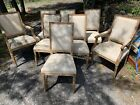 Set Of 8 Louis The XvI  16th Style Country Chairs In Pickeled Oak Dining