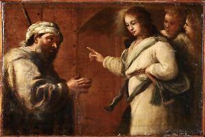 17th CENTURY ITALIAN OLD MASTER OIL CANVAS - DANIEL &  DREAM OF NEBUCHADNEZZAR