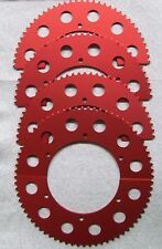 65-68 Rear Split Sprocket Gear #35 Chain Go Kart Racing -Red