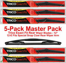"5-Pack Trico 12-E (x5) 12"" Rear Wiper Blades Fit Snap Claw Rear Wiper Arm"