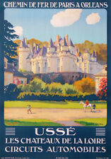 USSE CASTLES OF LOIRE IN FRANCE CIRCUITS AUTOMOBILES  BY CONSTANT DUVAL