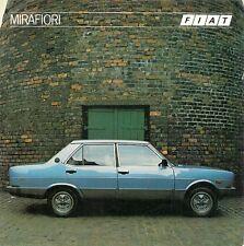 FIAT 131 MIRAFIORI 1982-84 UK marché foldout brochure supermrafiori cl