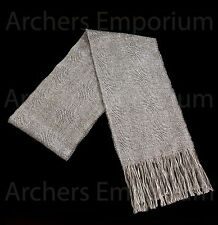 Gandalf the Grey magical Scarf, Natural Stansborough Wool. LotR, Hobbit. Weta.