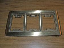 BRASS Floor Box 3 Gang Receptacle Carpet Flange Plate