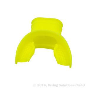 Scuba Diving Standard Silicone Mouthpiece Regulator Snorkel, Yellow
