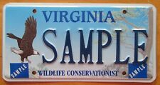 Virginia 1990's WILDLIFE CONSERVATIONIST SAMPLE License Plate SUPERB # SAMPLE
