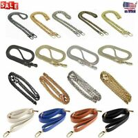 Replacement Bag Chain Metal/PU Purse Strap Handle Shoulder Handbag Crossbody Hot