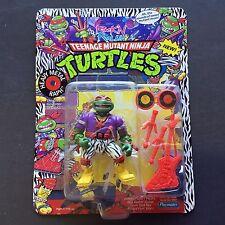 1991 TMNT TMHT Wave 4 Ninja Turtles Rock N Rollin HEAVY METAL RAPH MOC UNPUNCHED